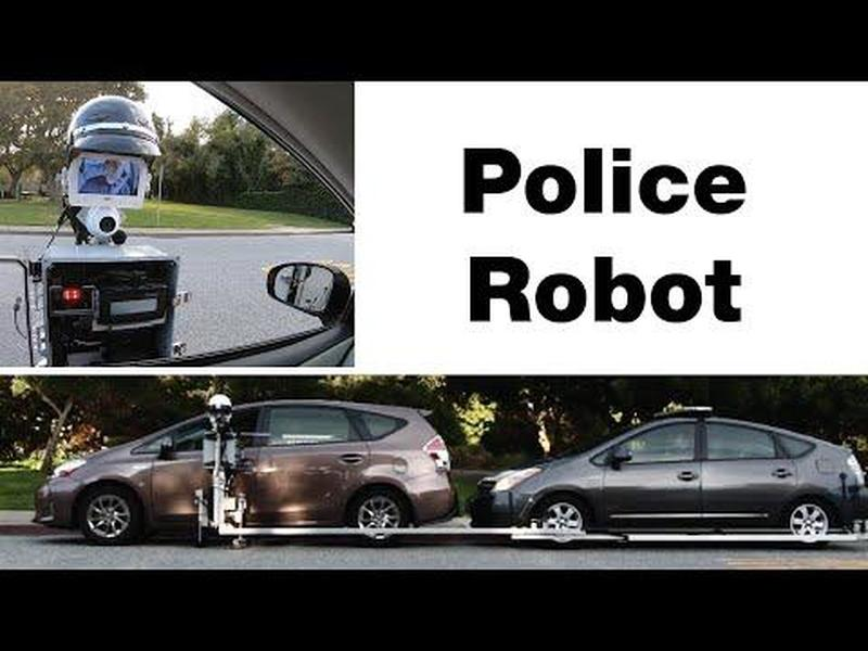 The Future Is Here: Watch Robot Cop Pull Over Driver And Issue Ticket